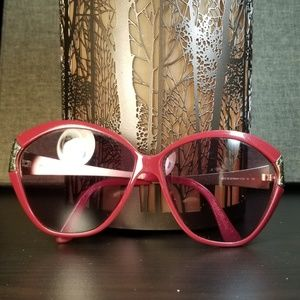 Christian Dior Vintage Red & Gold Sunglass Frames